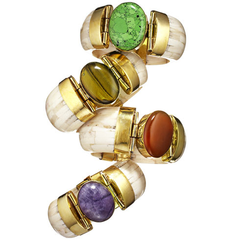 Bougainvillea Bone Bracelets