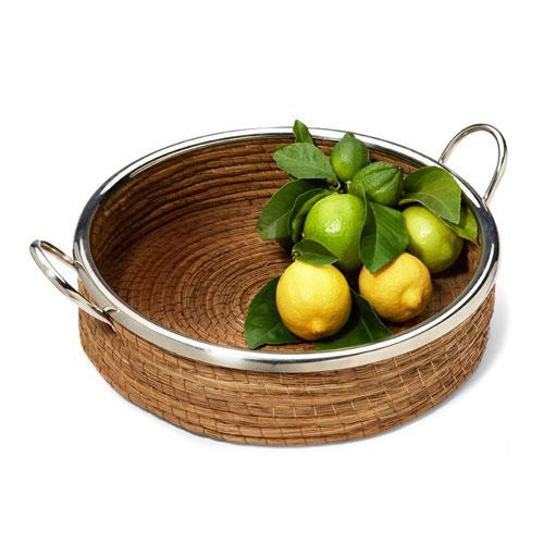 Nickel Straight Basket With Handles