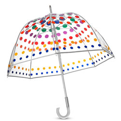 Classic Clear Bubble Stick Umbrella by Totes