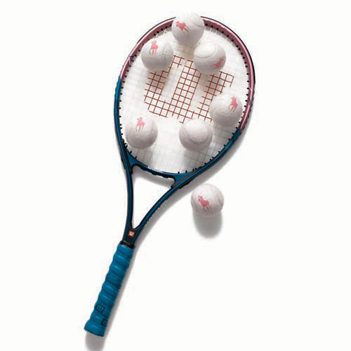 Wilson Hope Tennis Racket and Polo Ralph Lauren Pink Pony Tennis Balls