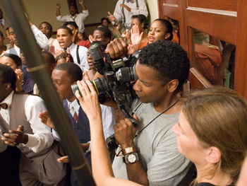Denzel Washington shoots 'The Great Debaters.'