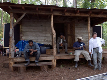 The crew hangs out at the juke joint.