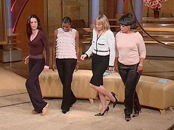 Sheila demonstrates a sexy new way to walk