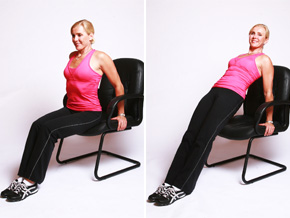 Andrea Metcalf demonstrates the reverse plank.