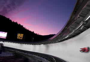 Whistler Olympic Park hosts the luge events.