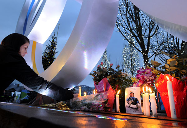 Vigil for luger Nodar Kumaritashvili