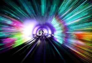 The Bund Sightseeing Tunnel in Shanghai.