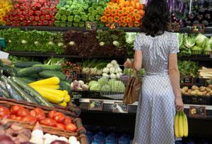 Organic grocery shopping