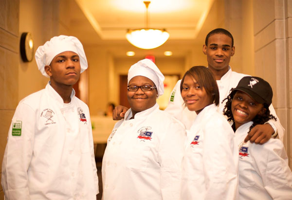Lashonda Livingston and her classmates won the Cooking Up Change competition.