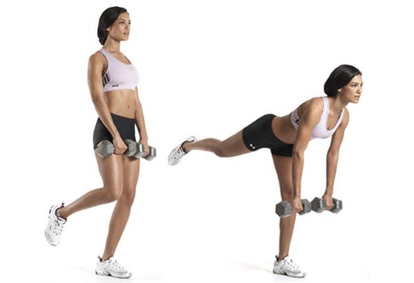 Single-leg dumbbell straight-leg deadlift