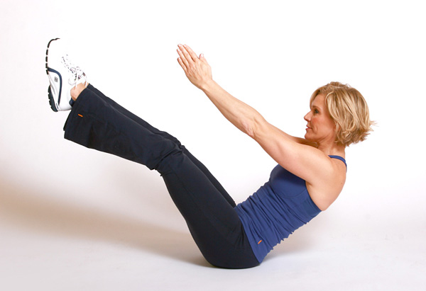 Andrea Metcalf demonstrates the V-twist.