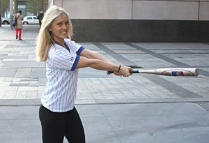 Swing a bat and work your core.