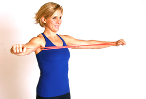 Andrea Metcalf demonstrates the posture perfect exercise.