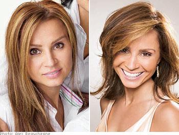 Brassy streak haircolor makeover