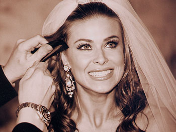 Carmen Electra as a bride