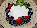 Blueberries, Strawberries, Blackberries with Sour Cream
