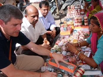 Keith in a market in India