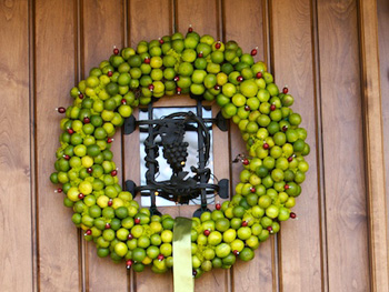 Key lime wreath