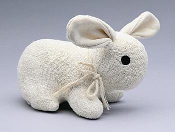 Organic bunny toy