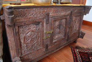 Simran's wooden cabinet