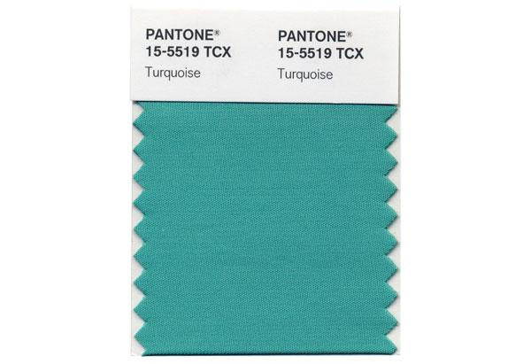 Pantone swatch: turquoise