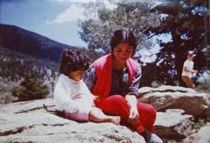 Simran Sethi as a young girl with her mom