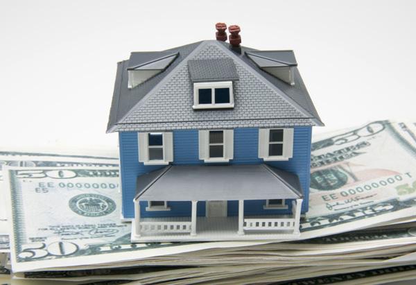 A model house on money
