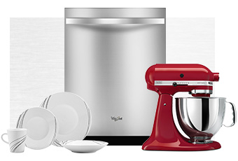 Win kitchen appliances like a dishwasher and mixer