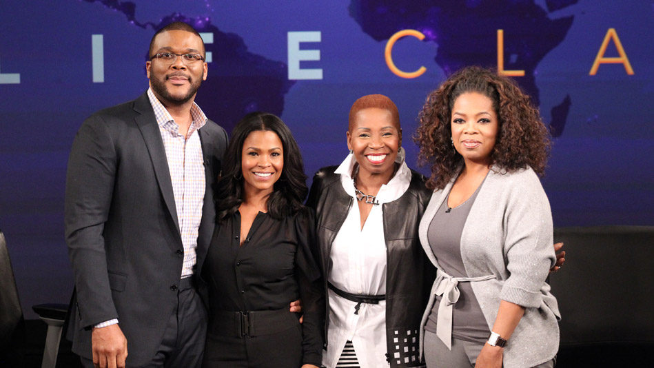 Tyler Perry, Nia Long, Iyanla Vanzant and Oprah Winfrey