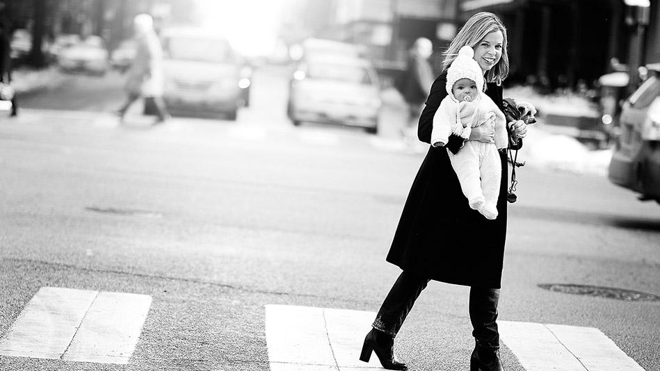 Erin Sermeus with her daughter