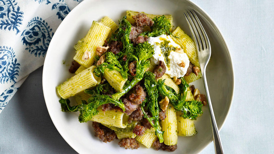 Pasta With Sausage, Broccoli Rabe, And Sundried Tomato Pesto Recipes ...