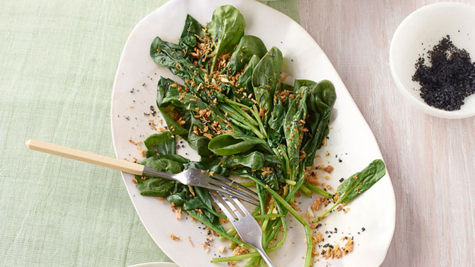 ... this spinach sauteed spinach with garlic serve the garlic spinach and
