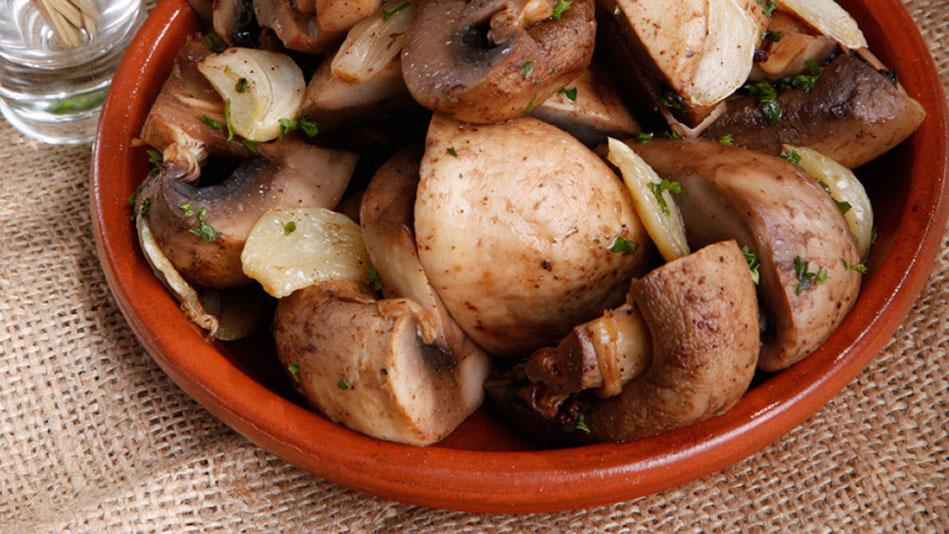 Garlic-Sherry Mushrooms Recipe