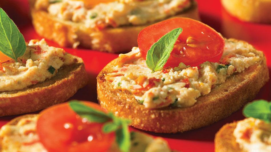 Goat Cheese and Sun-Dried Tomato Crostini Recipe