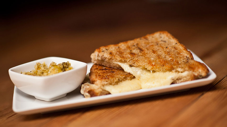 Grilled Gruyere Panini With Pickled Sweet Onions