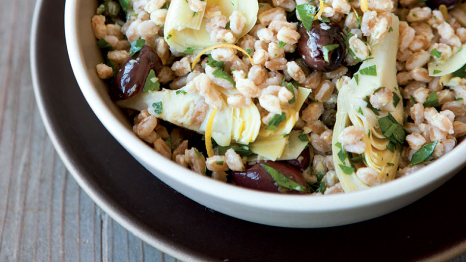 Farro Salad with Creamy Artichoke Dressing Recipe