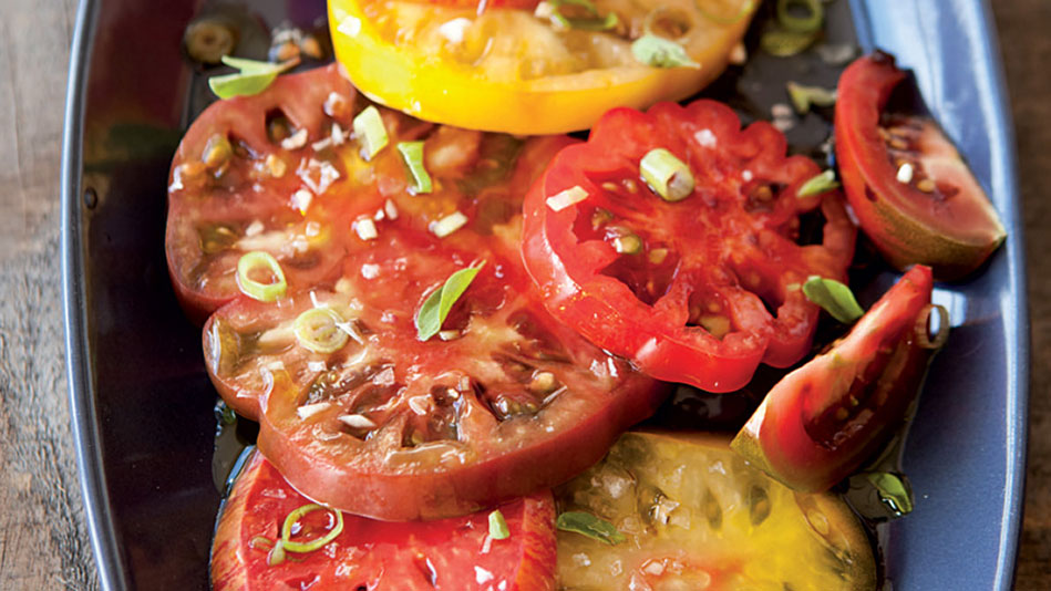 Heirloom Tomato Salad with Two Vinegars