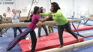 Oprah's Balance Beam Routine