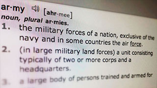Basic Training: Army Terminology