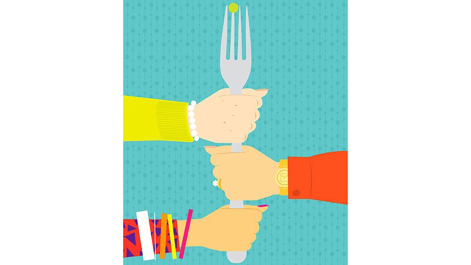 Hand Holding Fork Drawing Hands Holding Fork