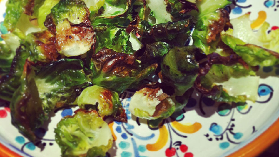 Roasted Brussels Sprouts Chips Recipe