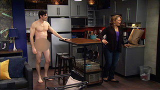 Linda Looks for Her Son and Walks In on His Naked Roommate Instead!