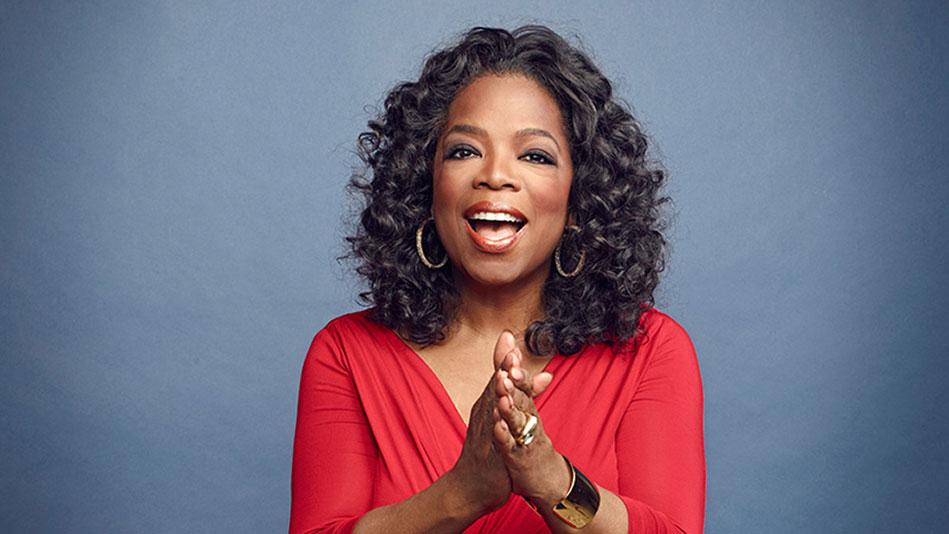 Oprah at a show taping