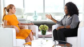 "Oprah to Lindsay Lohan: ""Are You an Addict?"""