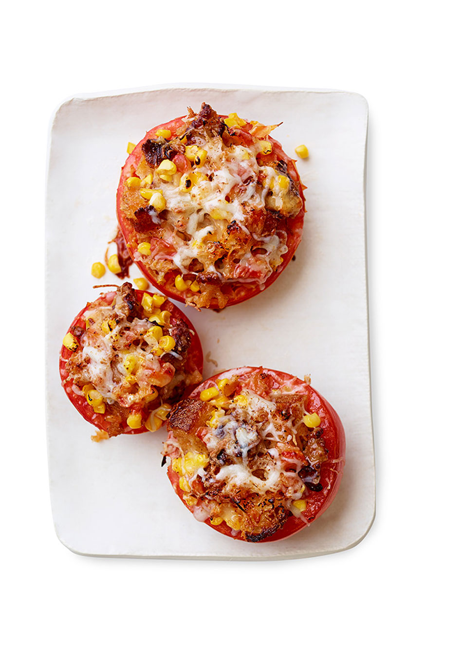 Stuffed Tomatoes with Sausage and Corn