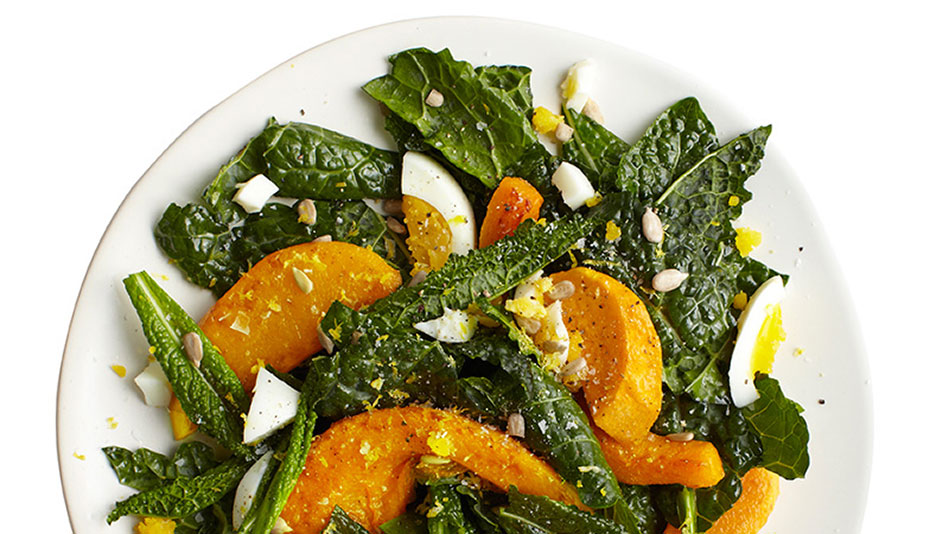 Lemony Raw Kale Salad with Egg Recipe