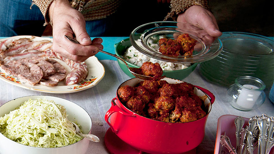 Sweet-and-Sour Potluck Meatballs Recipe