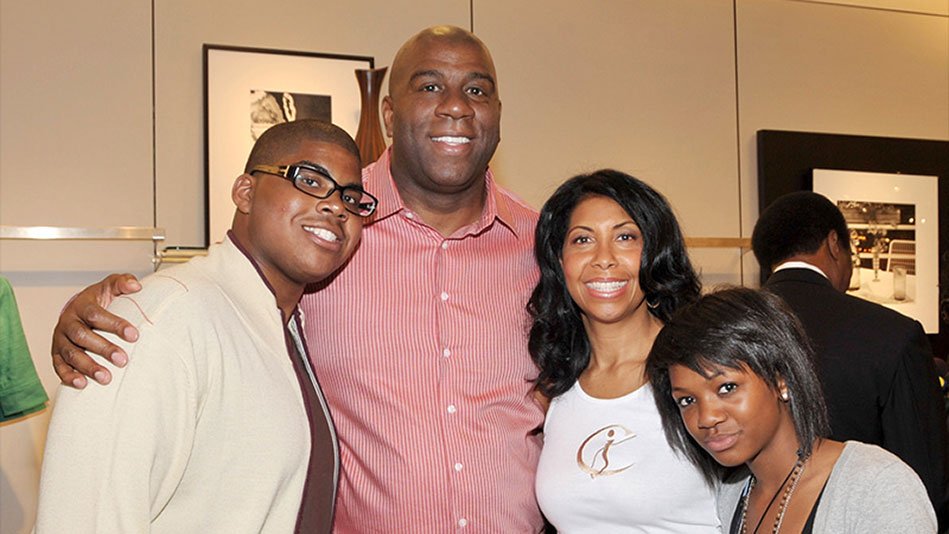 magic and cookie johnson show their support for their gay son video. Black Bedroom Furniture Sets. Home Design Ideas