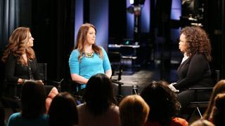Maria Shriver, Katrina Gilbert, and Oprah Winfrey