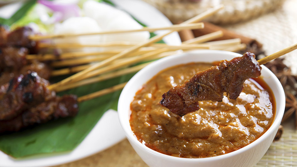 beef satay with beef satay with spicy peanut chicken satay with spicy ...